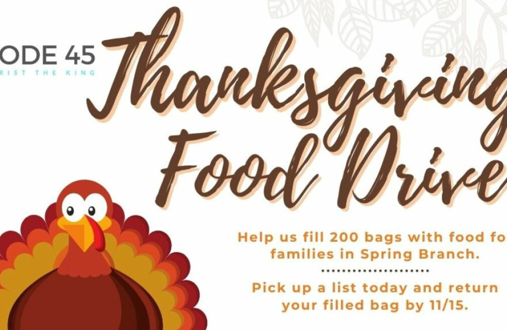 Code 45 Annual Thanksgiving Food Drive