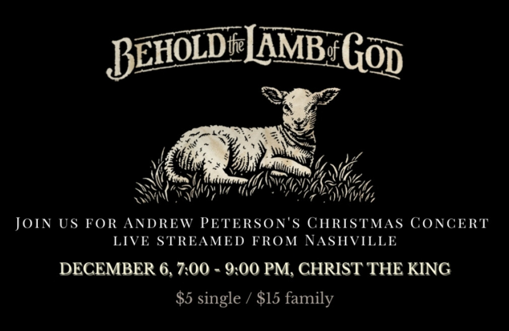 """Andrew Peterson Concert: """"Behold the Lamb of God"""""""