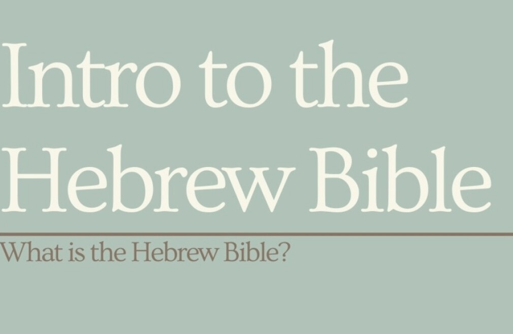 Adult Sunday Class - Intro to Hebrew  Bible